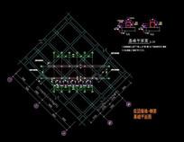 组团绿地钢架基础平面图