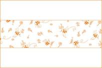 蜂蜜采蜜装饰底纹图案
