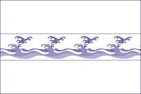 海浪移门图案