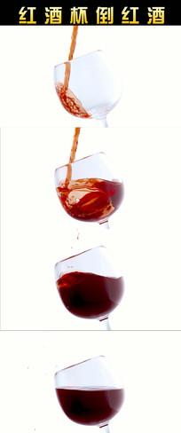 红酒杯倒红酒视频