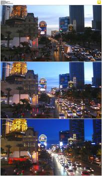 街道傍晚来临延时摄影视频素材