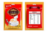 营养麦片食品包装AI矢量
