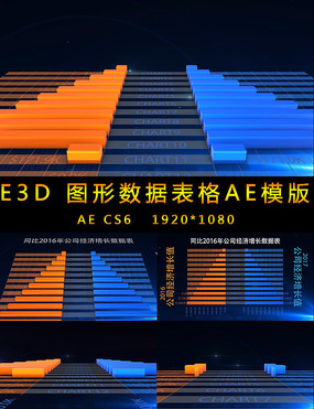 E3D图形数据表对比柱状图视频