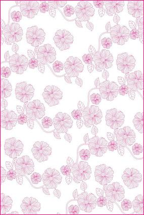 唯美花朵雕刻图案