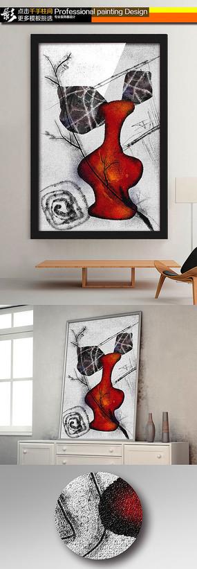 超清纹理抽象无框画装饰画油画