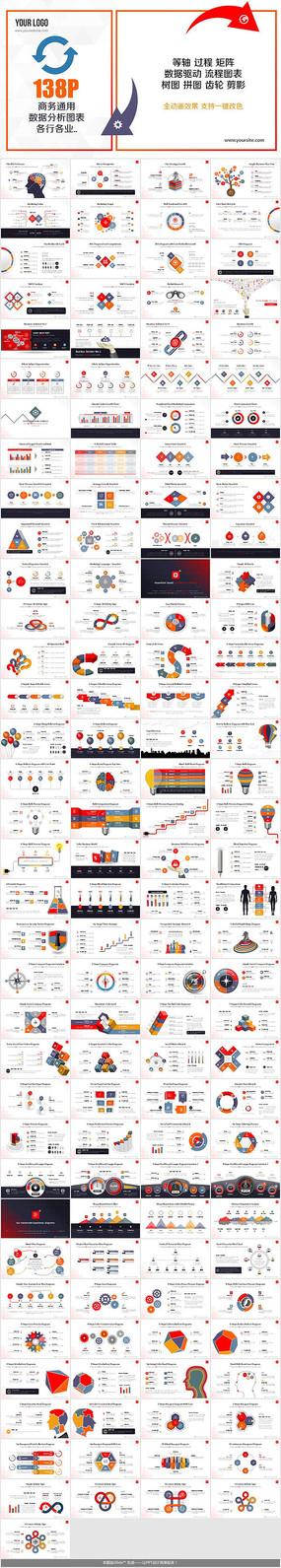 多彩商务数据信息图表PPT
