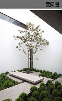 建筑空间景观意向图
