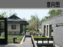 新中式园林景观意向图