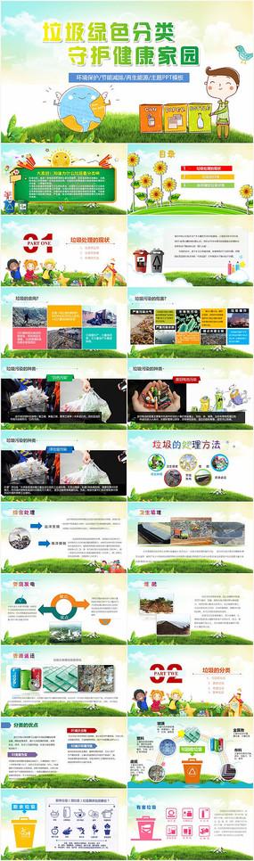 垃圾分类保护环境PPT模板