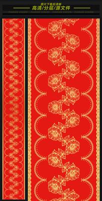 中式汉唐金色花卉高端婚礼T台
