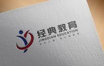 JD经典教育logo设计
