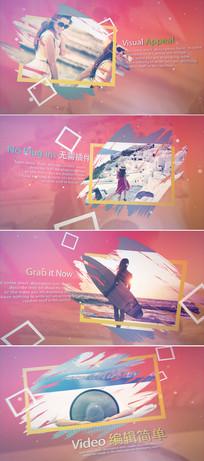 彩色笔刷写真相册片头模板
