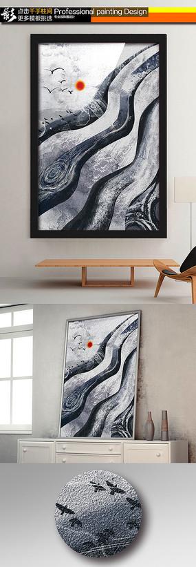 超清巨幅客厅装饰画无框画油画