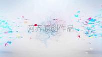 缤纷色彩蝴蝶飞舞粒子LOGO视频