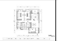 简欧风格室内平面设计图(含施工图)