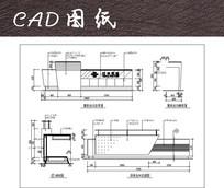 两款办公桌子前台CAD