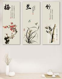 梅兰竹菊中国风装饰画