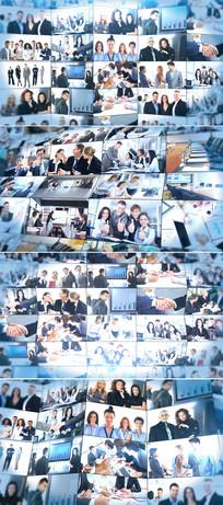 企业员工照片笑脸墙模板