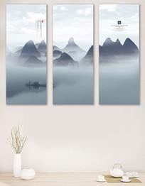 水墨風中國風高端客廳裝飾畫