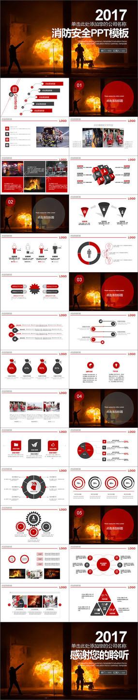 2017年消防安全PPT模板