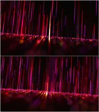 红色光线上升VJ视频
