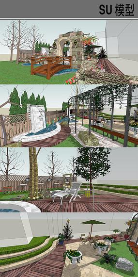 混搭庭院模型