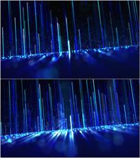 蓝色光线上升VJ视频