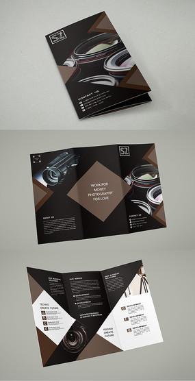 摄影器材三折页