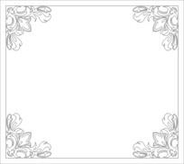 四角花纹雕刻图案