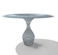 创意桌子造型雕塑su模型
