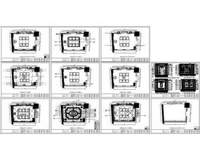 餐厅包房平面图