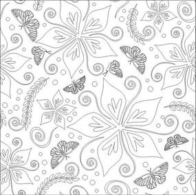 蝴蝶情深雕刻图案