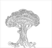 孔雀之树雕刻图案