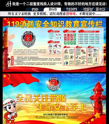 2017消防知识宣传展板设计