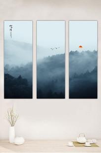 国画抽象水墨山水装饰画