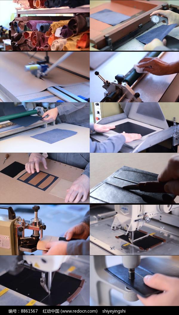 皮革真皮钱包卡夹动态视频图片