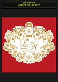 巴洛克欧式高端婚礼logo牌
