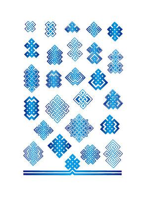 蓝色的传统花纹