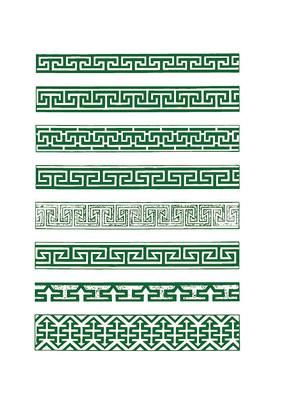 绿色的民族传统花纹