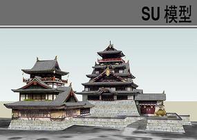 日本古建筑SU