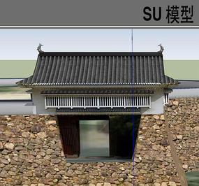 日式古典建筑大门