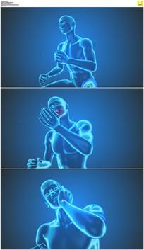 牙痛医疗动画视频素材
