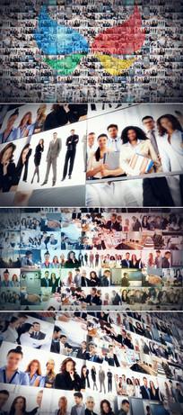 企业照片墙标志展示ae模板