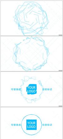 线条波动Logo动画视频