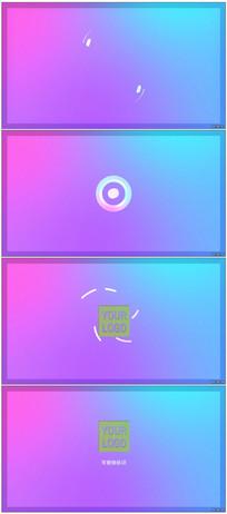 彩色渐变背景Logo动画