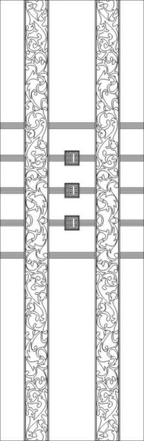 花紋門圖雕刻圖案