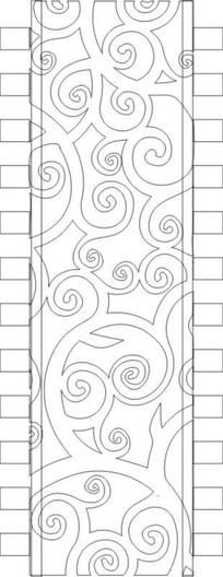 鏤空花紋抽象圖雕刻圖案