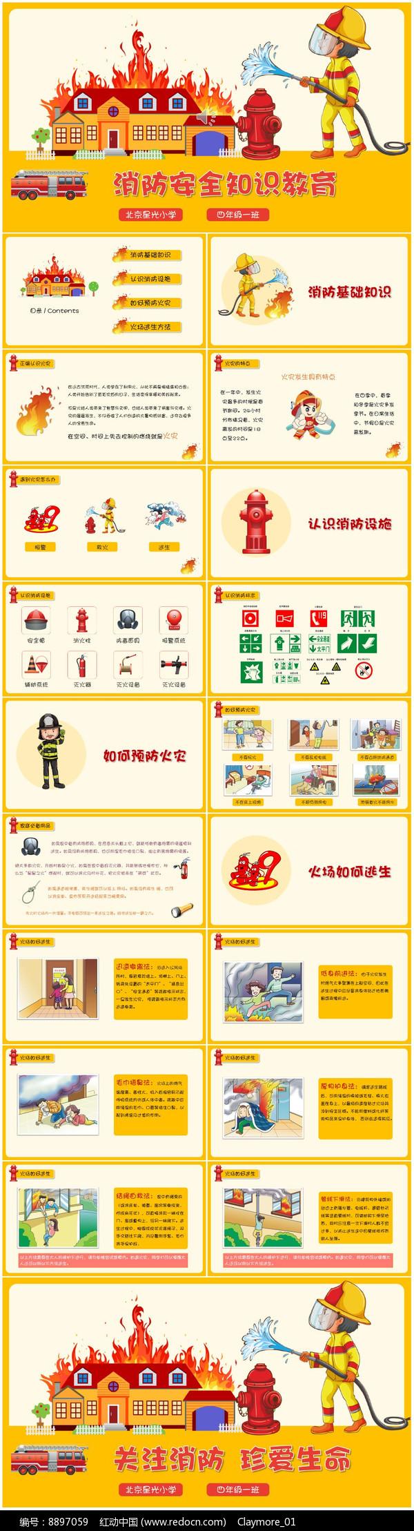 校园消防安全知识教育PPT图片