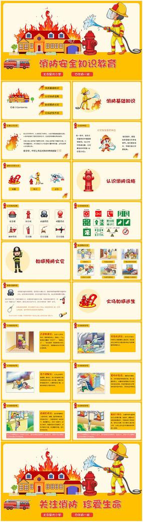 校园消防安全知识教育PPT