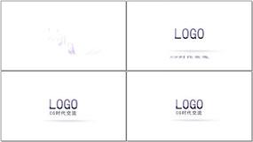 简洁LOGO落版AE模板